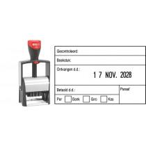 Boekhoudstempel 2153 - Colop 2660/S3 (datum rechts)