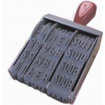 Bandstempel Datum in cijfers - 15 mm