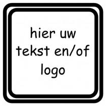 Kunststof naambord - Gegraveerd - 30 x 30 x 1,5 mm