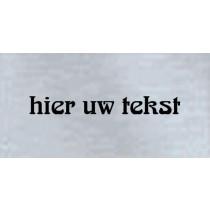 Kunststof naambord - Gegraveerd -  80 x 40 x 1,5 mm