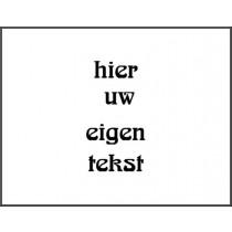 Kunststof naambord - Gegraveerd -  258 x 200 x 3,2 mm