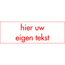 Kunststof naambord - Gegraveerd -  300 x 100 x 3,2 mm