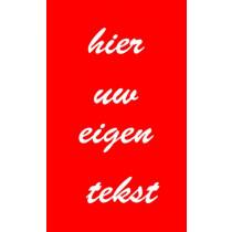 Kunststof naambord - Gegraveerd -  330 x 200 x 3,2 mm