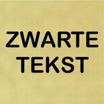 Kunststof naambord - Gegraveerd - 100 x 100 x 1,5 mm
