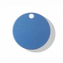 Hondenpenning Rond met gat klein blauw | 2 zijden graveren | Ø 25 mm