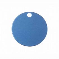 Hondenpenning Rond met gat klein blauw | 1 zijde graveren | Ø 25 mm