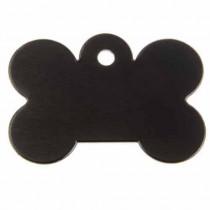 zwart hondenpenning vorm bot