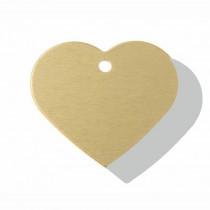Hart GROOT goud| 2 zijden graveren | 38x32 mm