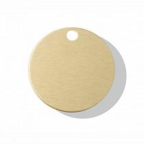 Hondenpenning Rond met gat klein goud | 2 zijden graveren | Ø 25 mm