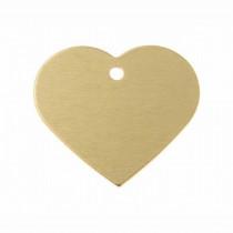 Hart GROOT goud | 1 zijde graveren | 38x32 mm