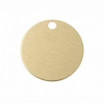 Hondenpenning Rond met gat klein goud | 1 zijde graveren | Ø 25 mm