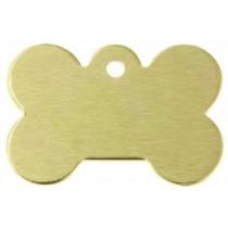 Hondenpenning GROOT goud | 1 zijde graveren | 40x28 mm