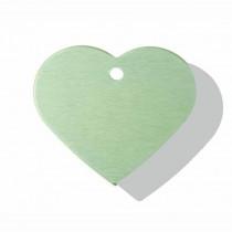 Hart GROOT groen | 2 zijden graveren | 38x32 mm