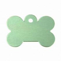 Hondenpenning Bot GROOT groen | 1 zijde graveren | 40x28 mm