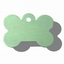 Hondenpenning Bot GROOT groen | 2 zijden graveren | 40x28 mm
