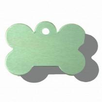 Hondenpenning Bot KLEIN groen | 2 zijden graveren | 31x21 mm
