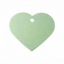 Hart GROOT groen | 1 zijde graveren | 38x32 mm