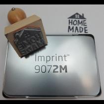 Handstempel 'Home made huisje' incl. zwart inktkussen
