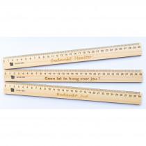 Liniaal gegraveerd hout