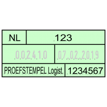Douanestempel DN65a Numeroteur met datum en tekstplaat