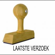 Houten handstempel LAATSTE VERZOEK