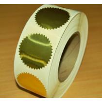 Preegetiketten Goud 51 mm - 100 stuks
