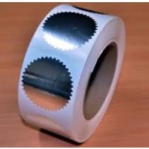 Preegetiketten Zilver 51 mm - 100 stuks