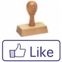 Houten handstempel Like