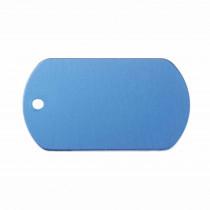 Hondenpenning Militair ID-label blauw - military tag | 1 zijde graveren | 40x28 mm
