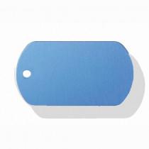 Hondenpenning Militair ID-label blauw - military tag | 2 zijden graveren | 40x28 mm
