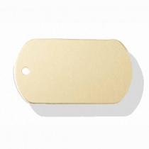 Hondenpenning Militair ID-label goud - military tag | 2 zijden graveren | 40x28 mm