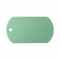 Hondenpenning Militair ID-label groen - military tag | 1 zijde graveren | 40x28 mm