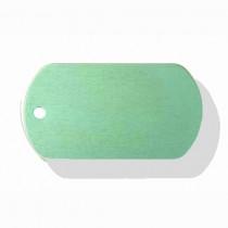 Hondenpenning Militair ID-label groen - military tag | 2 zijden graveren | 40x28 mm