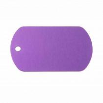 Hondenpenning Militair ID-label paars - military tag | 1 zijde graveren | 40x28 mm