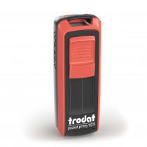 Trodat Pocket printy 9511 rood/zwart montuur