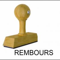 Houten handstempel REMBOURS