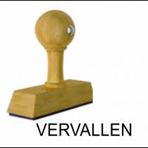Houten handstempel VERVALLEN
