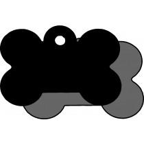 Hondenpenning Bot KLEIN zwart | 2 zijden graveren | 31x21 mm