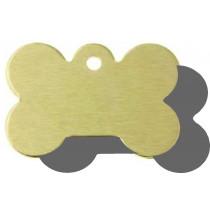 Hondenpenning Bot GROOT goud | 2 zijden graveren | 40x28 mm