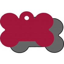 Hondenpenning GROOT rood | 2 zijden graveren | 40x28 mm