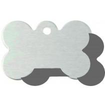 Hondenpenning GROOT zilver | 2 zijden graveren | 40x28 mm