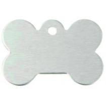Hondenpenning GROOT zilver | 1 zijde graveren | 40x28 mm