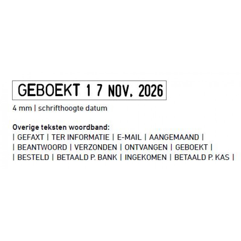 Trodat Prof. 4.0 5117 NL woord/datum 4 mm