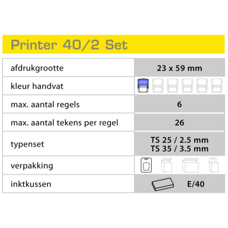 Colop Printer 40/2 Set